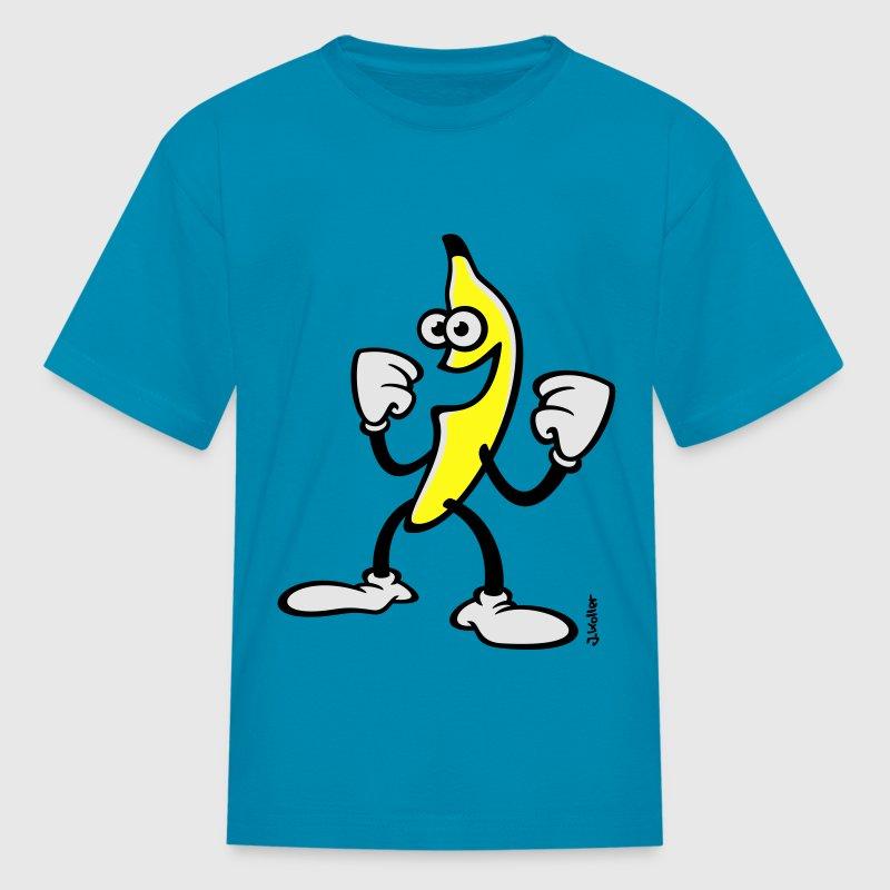 Happy Banana (Funny / Comic / SVG) T-Shirt | Spreadshirt