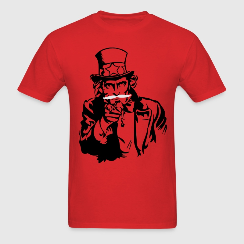 Uncle Sam Mustache - Men's T-Shirt