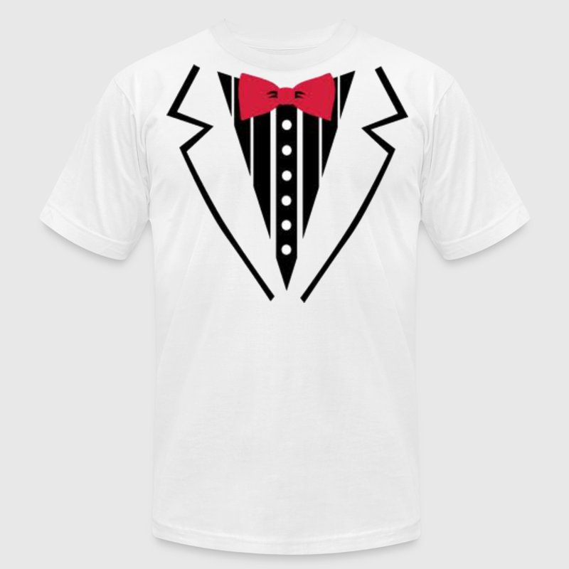 White tuxedo. T-Shirts - Men's T-Shirt by American Apparel