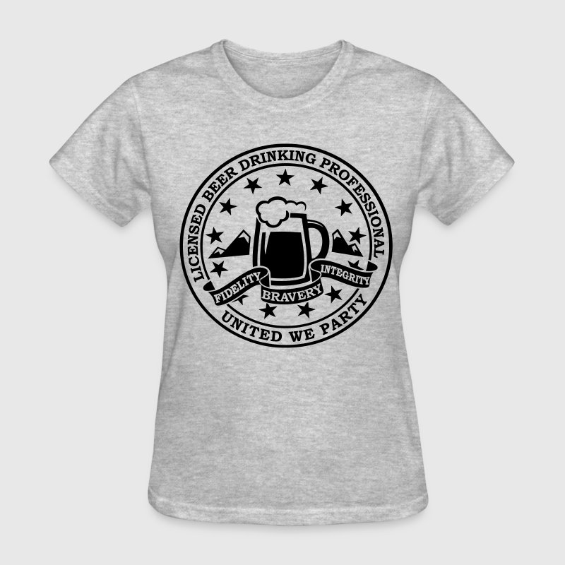 Funny i love beer alcohol drinking license badge t-shirts for drunk clubbing stag partying st patrick keg frat party Women's T-Shirts - Women's T-Shirt