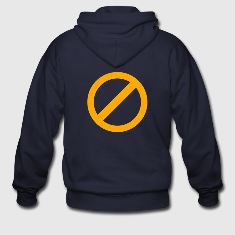 strikeout none non no symbol Zip Hoodies/Jackets - Men's Zip Hoodie