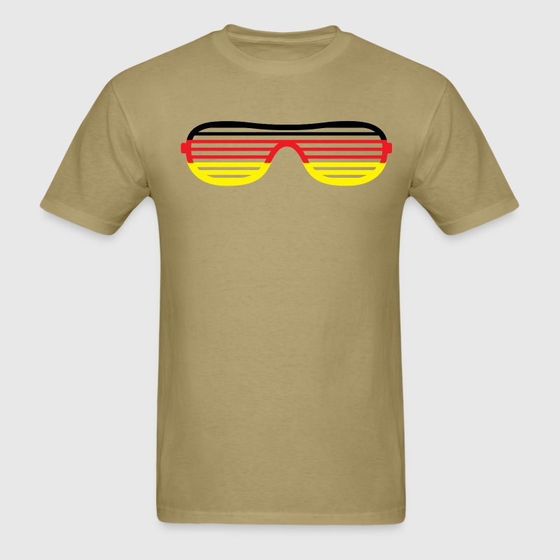 Germany Striped Glasses T-Shirts - Men's T-Shirt