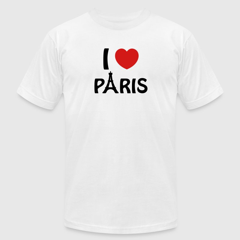 I Love Paris - Men's T-Shirt by American Apparel