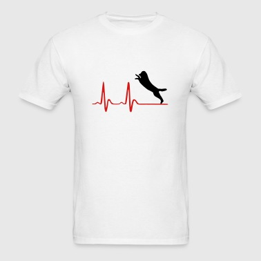 Heartbeat & happy dog Sportswear - Men's T-Shirt