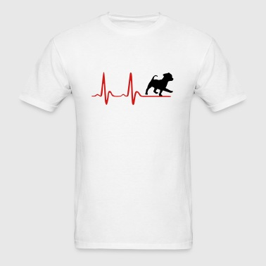 Heartbeat & cute dog Sportswear - Men's T-Shirt