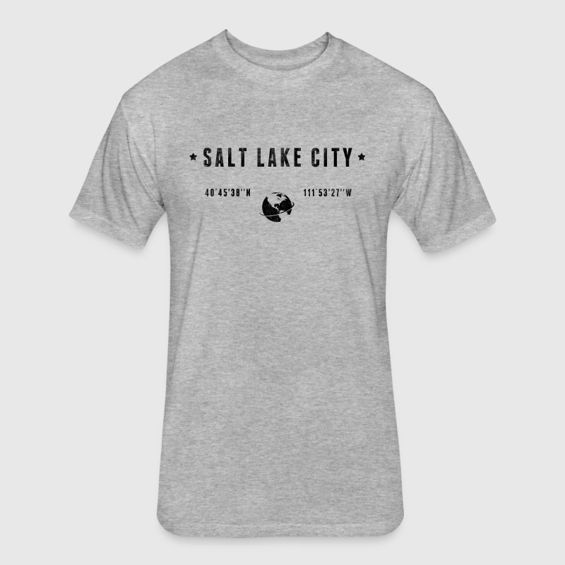 Salt lake city T-Shirts - Fitted Cotton/Poly T-Shirt by Next Level