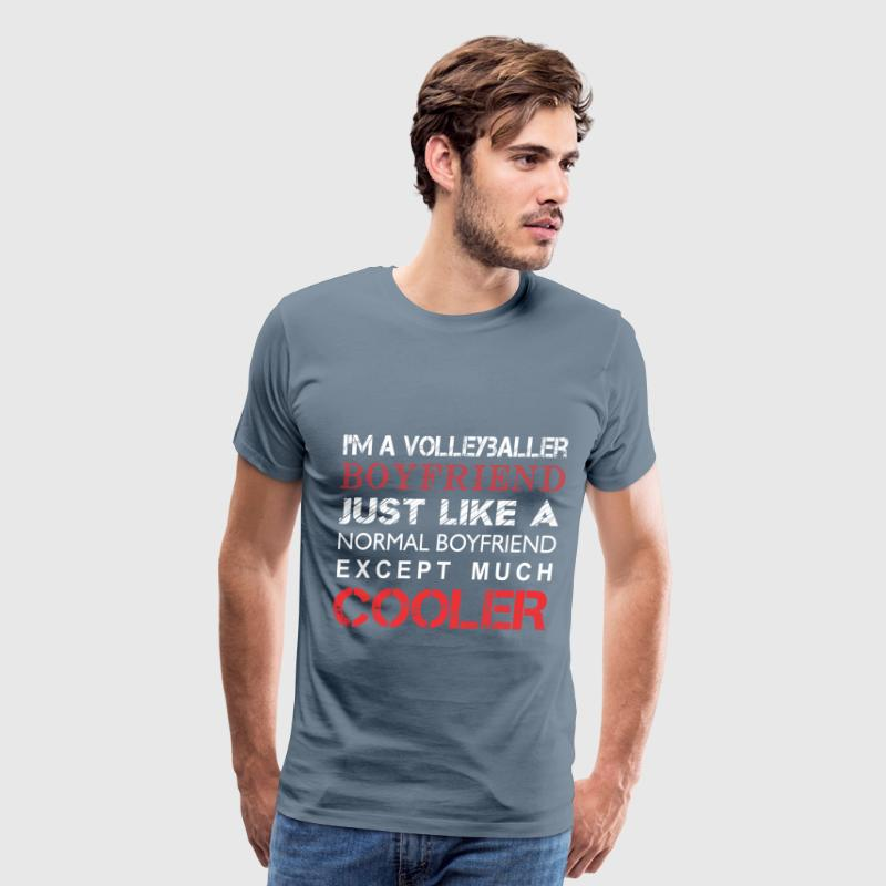 Volleyballer's - I'm a Volleyballer's boyfriend - Men's Premium T-Shirt