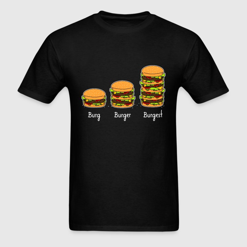 Burger explained 02 T-Shirts - Men's T-Shirt