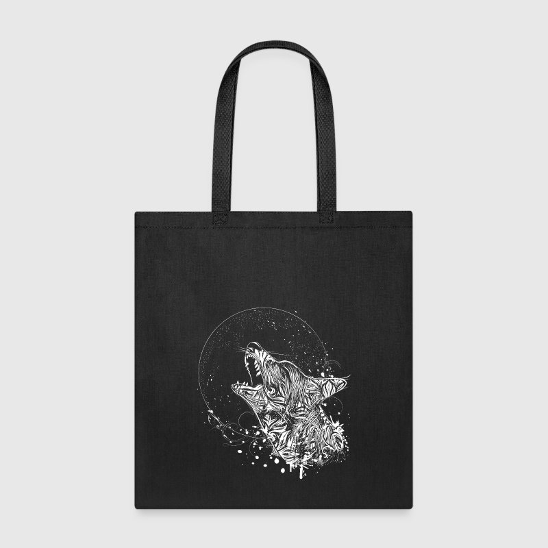 Wolf Howling at the Moon Bags & backpacks - Tote Bag