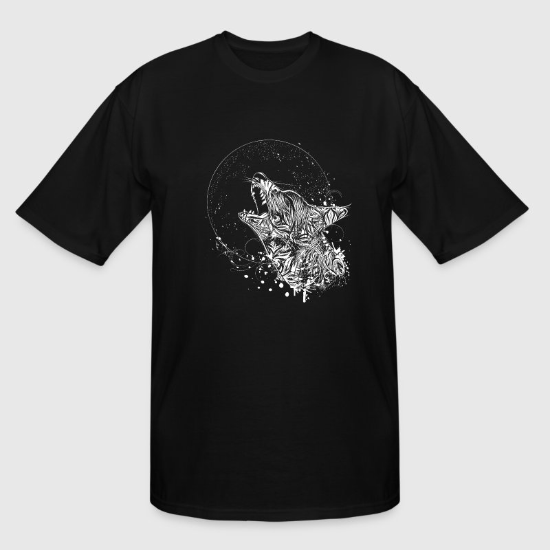 Wolf Howling at the Moon T-Shirts - Men's Tall T-Shirt