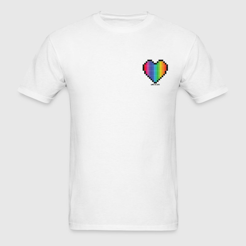 Love Is Love Lgbt Rainbow Heart T-Shirts - Men's T-Shirt