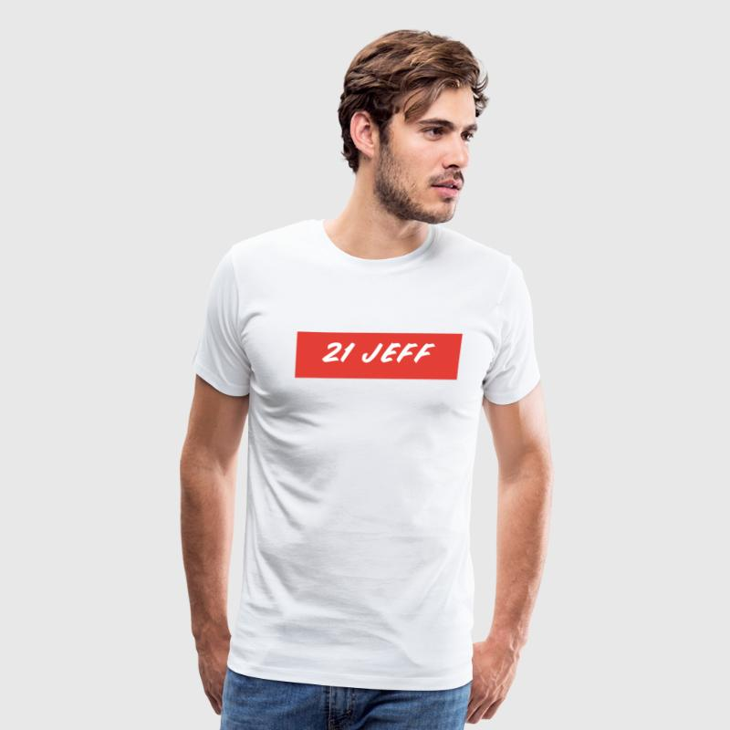 21-Jeff-Box-Logo T-Shirts - Men's Premium T-Shirt