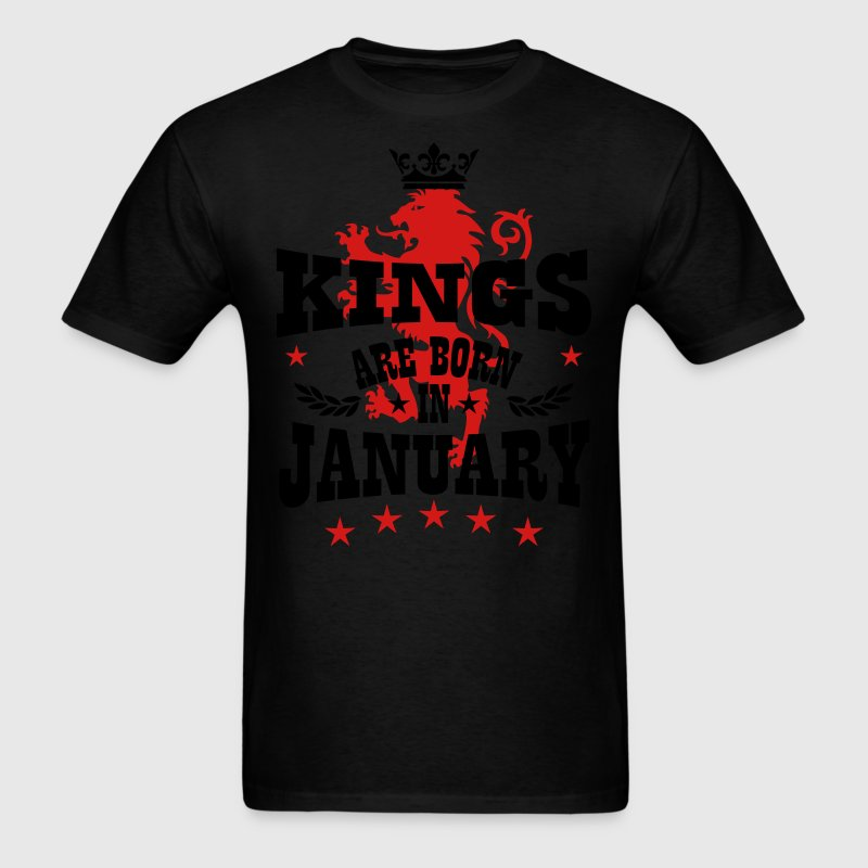 Kings are born in January King Lions Birthday T-Sh - Men's T-Shirt