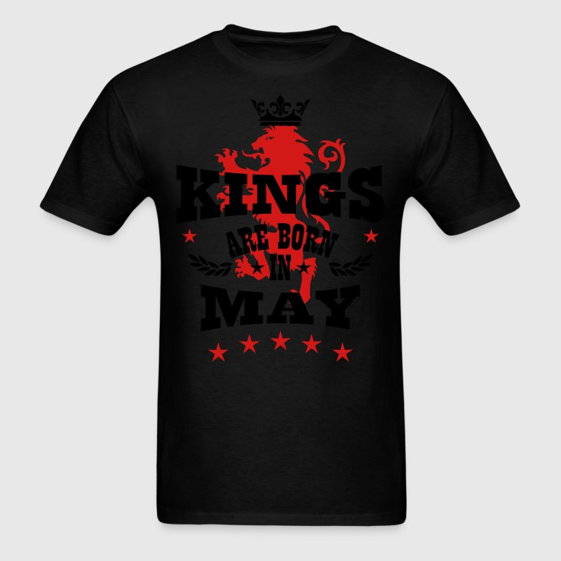 Kings are born in May King Lions Birthday T-Shir - Men's T-Shirt