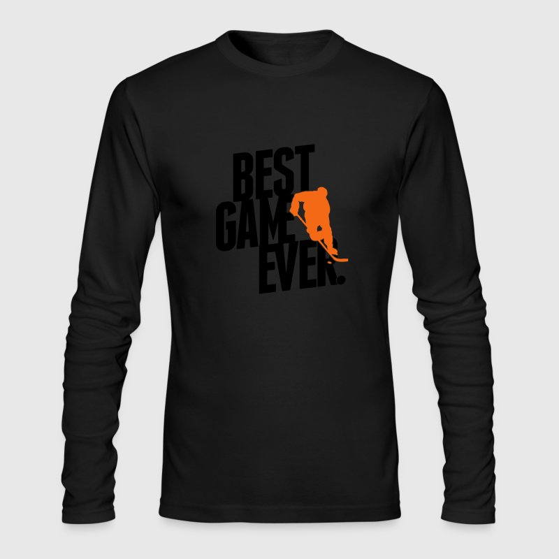 Ice hockey - best game ever Long Sleeve Shirts - Men's Long Sleeve T-Shirt by Next Level