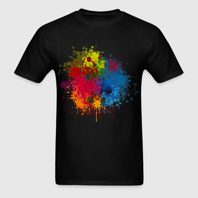 Abstract paint splatter t shirt spreadshirt for How to paint on t shirt