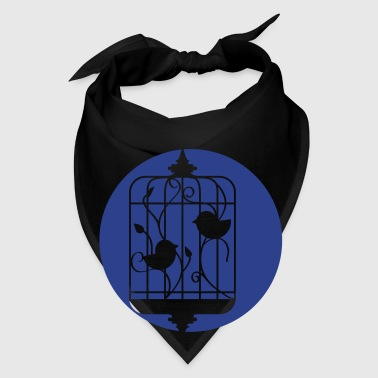 Birds in a Cage Silhouette Bags  - Bandana