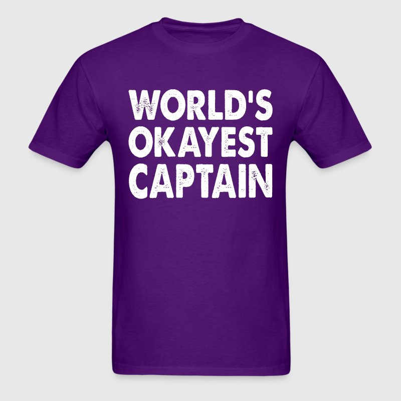 World's Okayest Captain Commander T-Shirts - Men's T-Shirt