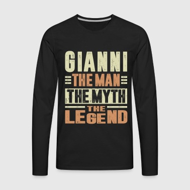 Gianni The Man The Myth - Men's Premium Long Sleeve T-Shirt
