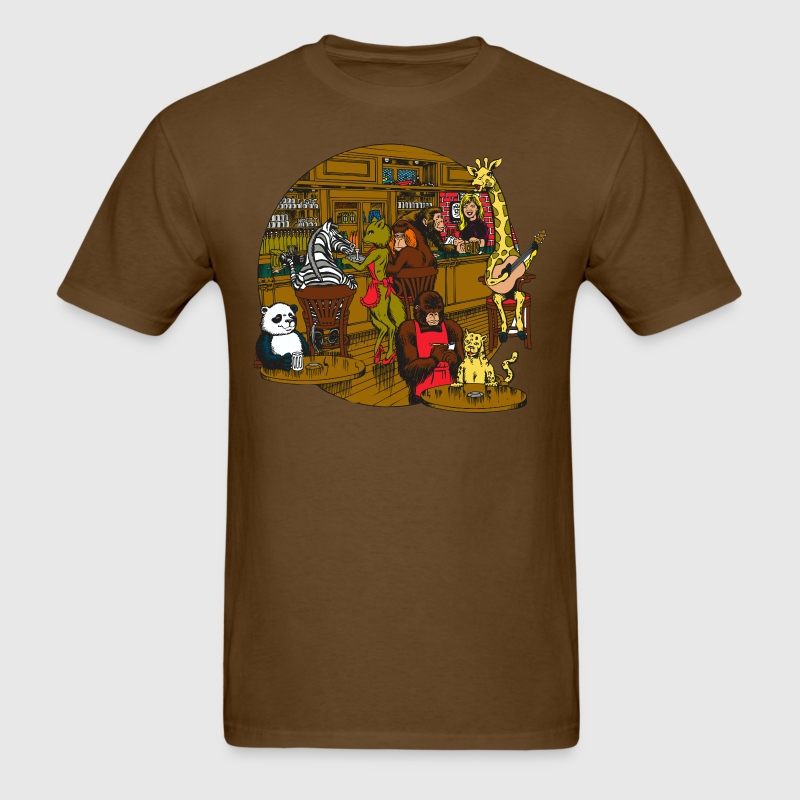 Animal bar cartoon t shirt spreadshirt for Dive bar shirt club promotion codes