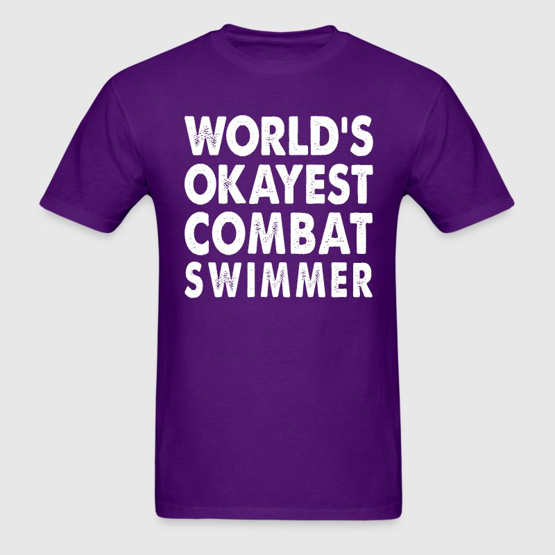 World's Okayest Combat Swimmer T-Shirts - Men's T-Shirt