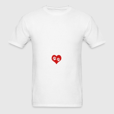 Heart Paw Paws Dog Cat Love 1c Sportswear - Men's T-Shirt