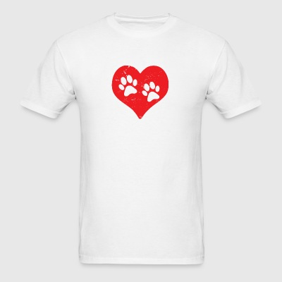 Heart Paw Paws Dog Cat Love red Sportswear - Men's T-Shirt
