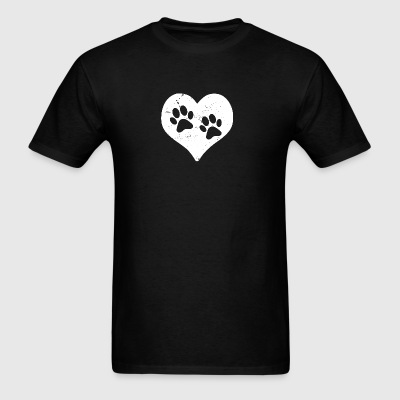 Heart Paw Paws Dog Cat Love white Sportswear - Men's T-Shirt