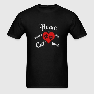Home is where my Cat lives 2c Sportswear - Men's T-Shirt