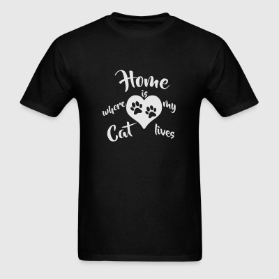 Home is where my Cat lives 1c Sportswear - Men's T-Shirt