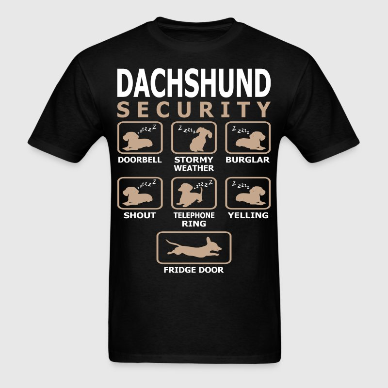 Dachshund Dog Security Pets Love Funny Tshirt T-Shirts - Men's T-Shirt
