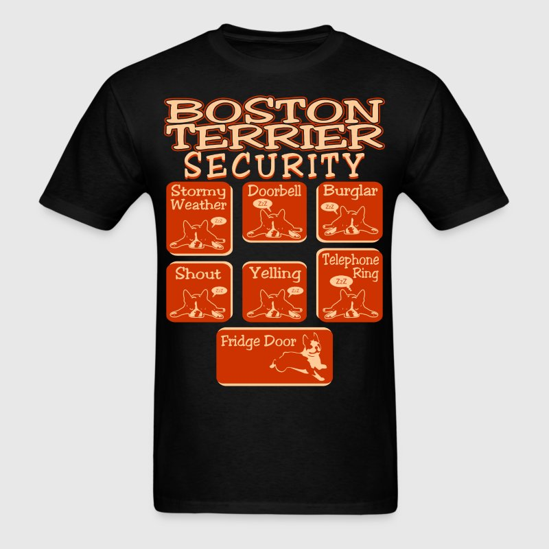 Boston terrier dog security pets love funny tshirt t shirt for Boston rescue 2 t shirt
