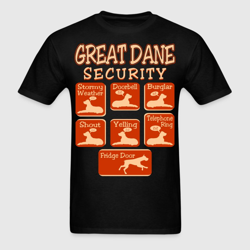 Great Dane Dog Security Pets Love Funny Tshirt T-Shirts - Men's T-Shirt