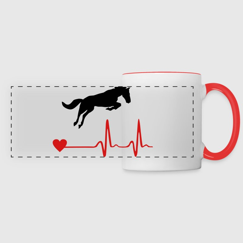 Horse and heartbeat Mugs & Drinkware - Panoramic Mug