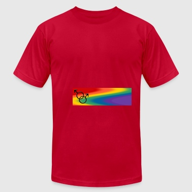 Gay Pride Mugs Rainbow Love Cups - Men's Fine Jersey T-Shirt