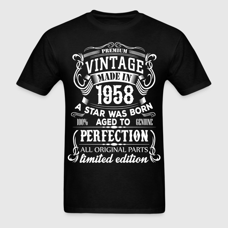 vintage 1958 t shirt spreadshirt