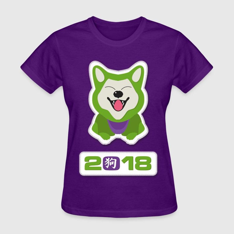 Year of the dog 2018 design  - Lucky Dog - Women's T-Shirt