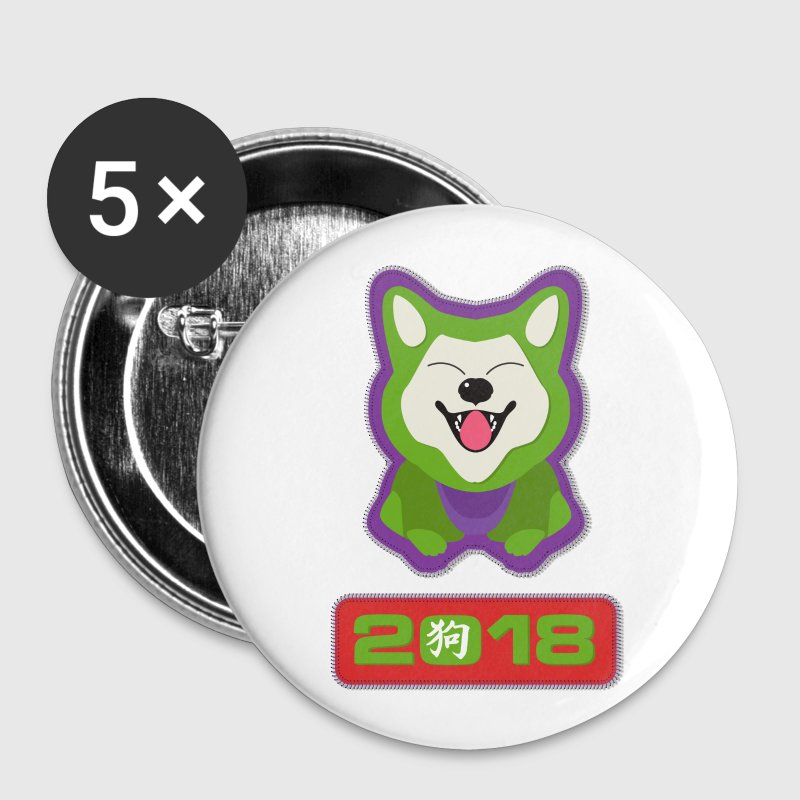 Year of the dog 2018 design  - Lucky Dog - Large Buttons