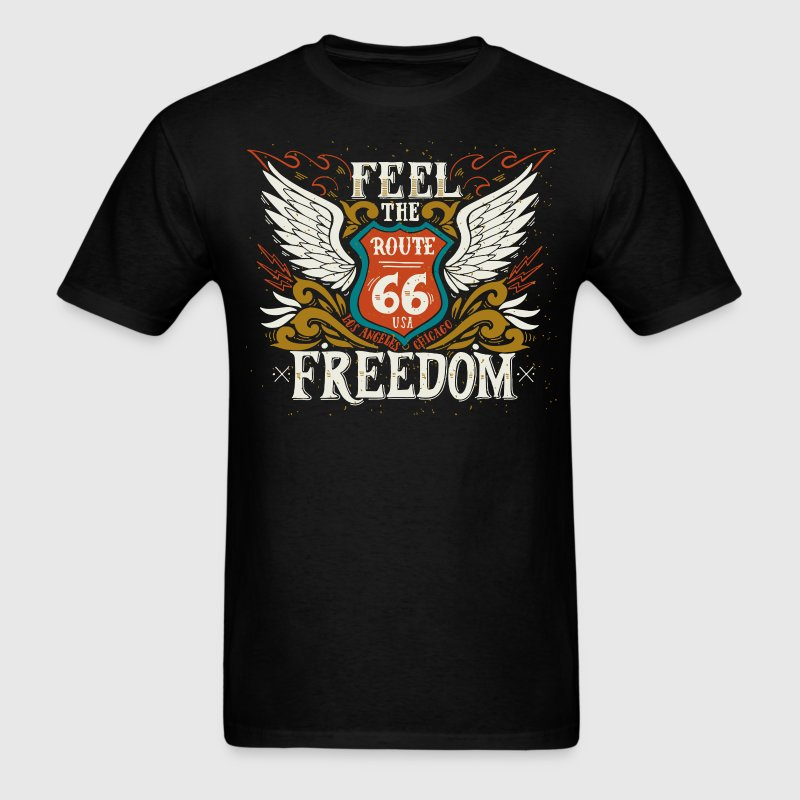 Feel the freedom Route 66 t-shirt - Men's T-Shirt