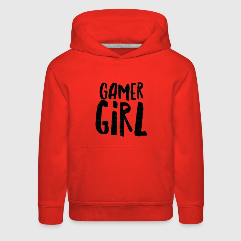 Black Grunge Gamer Girl Sweatshirts - Kids' Premium Hoodie
