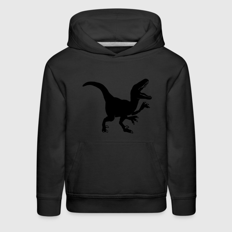 Custom Raptor Dinosaur Graphic Sweatshirts - Kids' Premium Hoodie