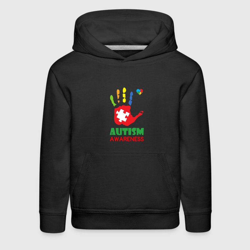 Autism Awareness Hand Color Sweatshirts - Kids' Premium Hoodie