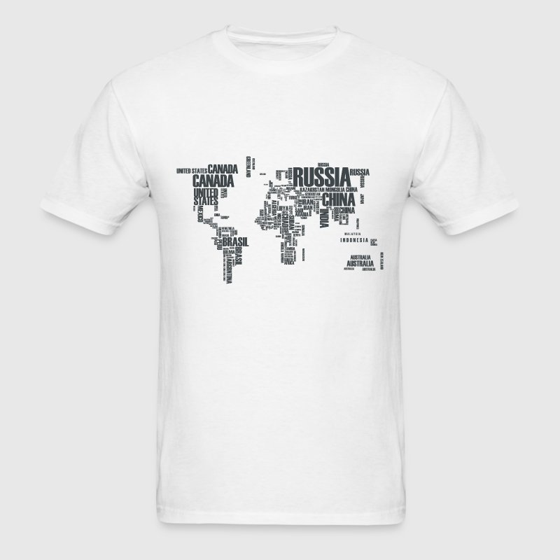 World Map Typography T-Shirts - Men's T-Shirt