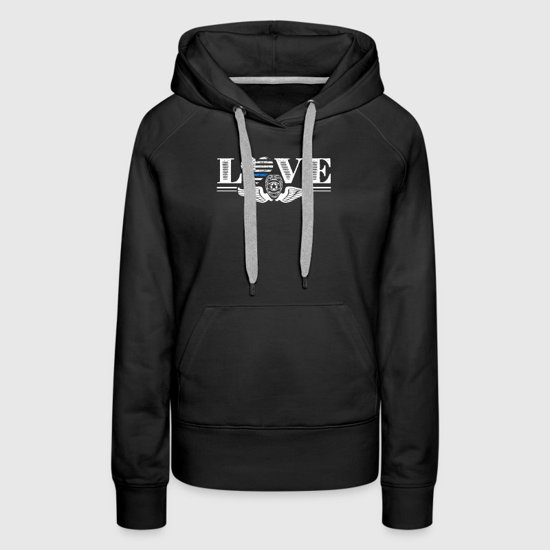 Thin Blue Line Love Shirt - Women's Premium Hoodie