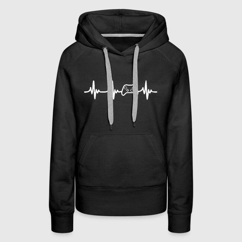 Gamer's Heartbeat Shirt - Women's Premium Hoodie