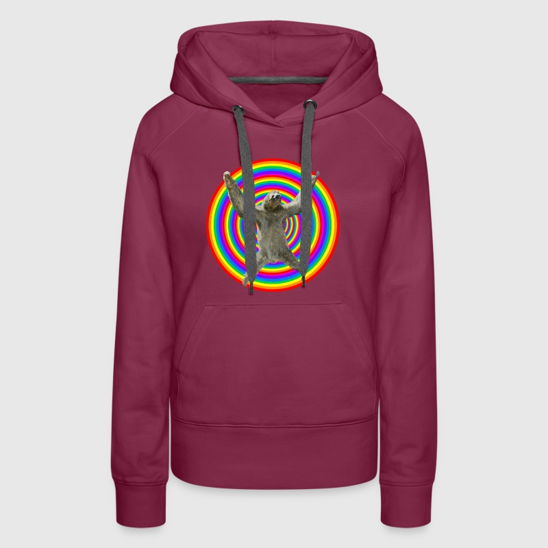 Magic Rainbow Sloth - Women's Premium Hoodie