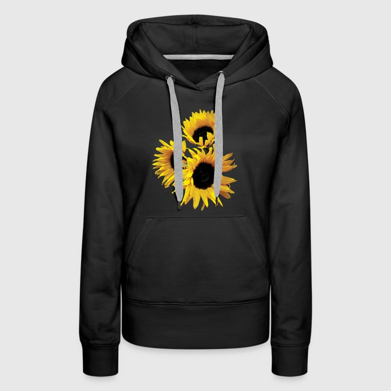Three Yellow Sunflowers Hoodies - Women's Premium Hoodie