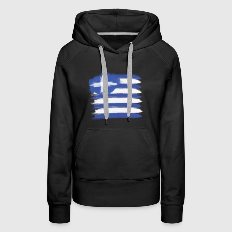 Greece Flag greek Hoodies - Women's Premium Hoodie