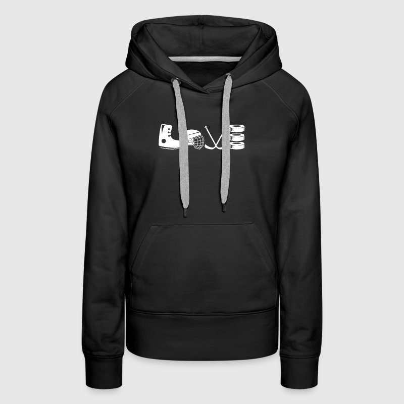 Love Hockey Mom Shirt - Women's Premium Hoodie