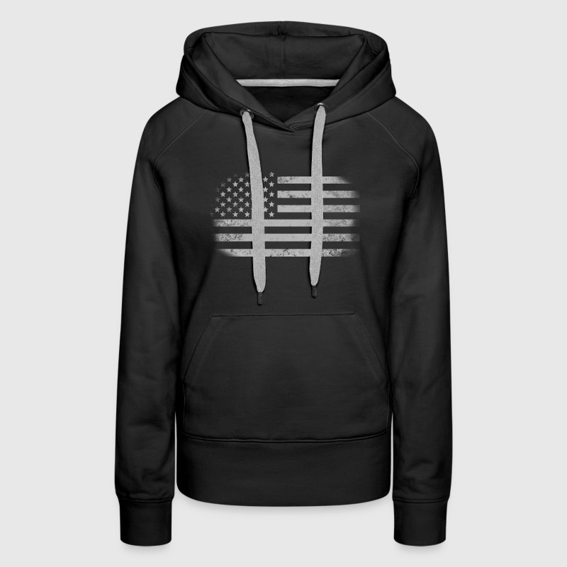 Distressed American Flag - Women's Premium Hoodie